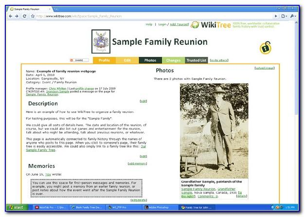 Family Reunion Website Templates