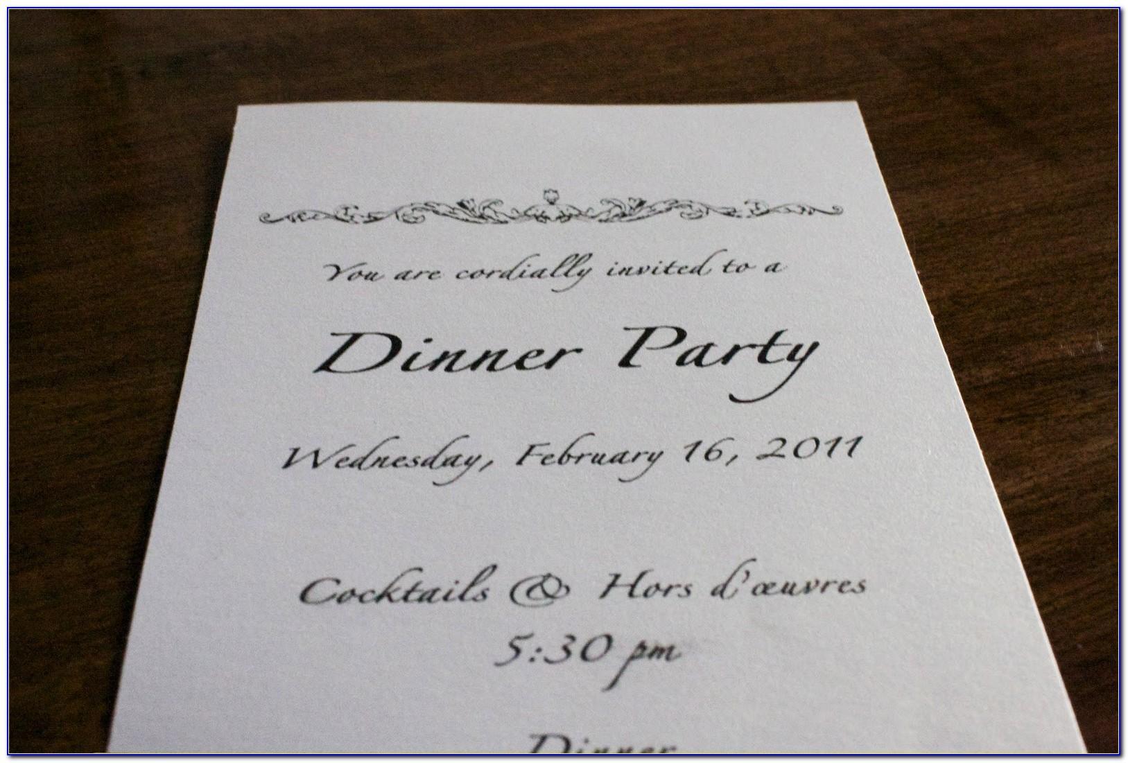 Fancy Dinner Party Invitation Wording