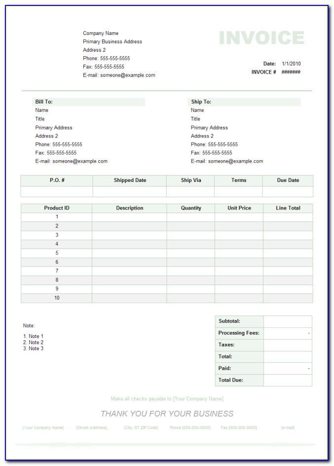 Film Production Invoice Template