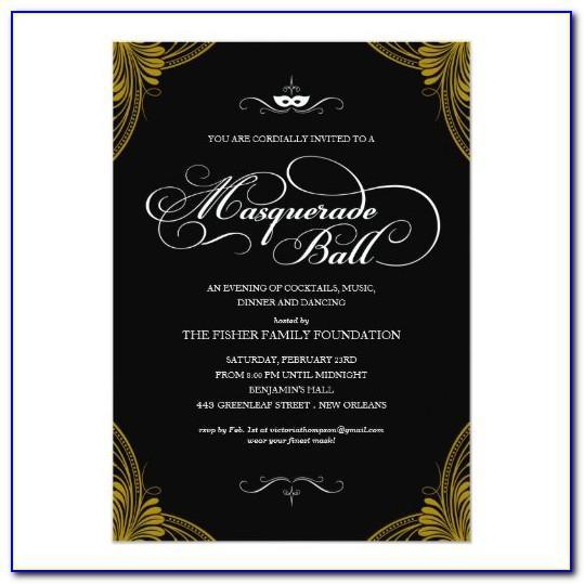 Formal Ball Invitation Templates