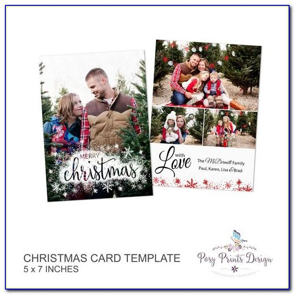 Free 5x7 Christmas Card Templates Photoshop