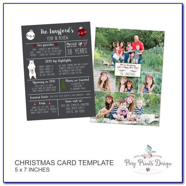 Free 5x7 Christmas Card Templates