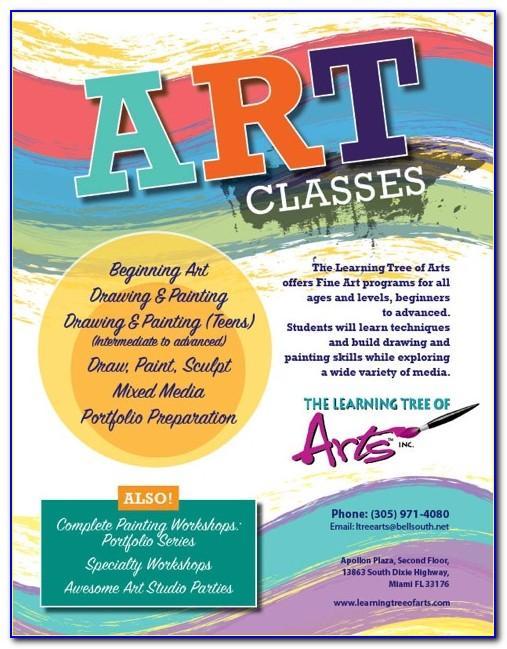 Free Art Class Flyer Template