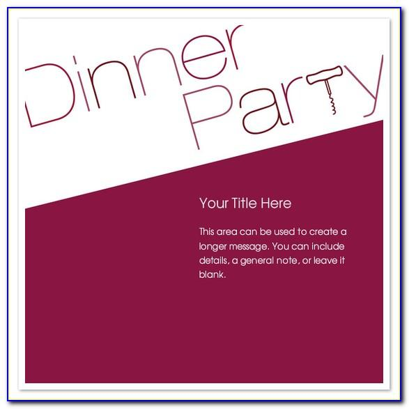 Free Birthday Dinner Party Invitation Templates