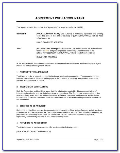 Free Bookkeeping Services Agreement Template
