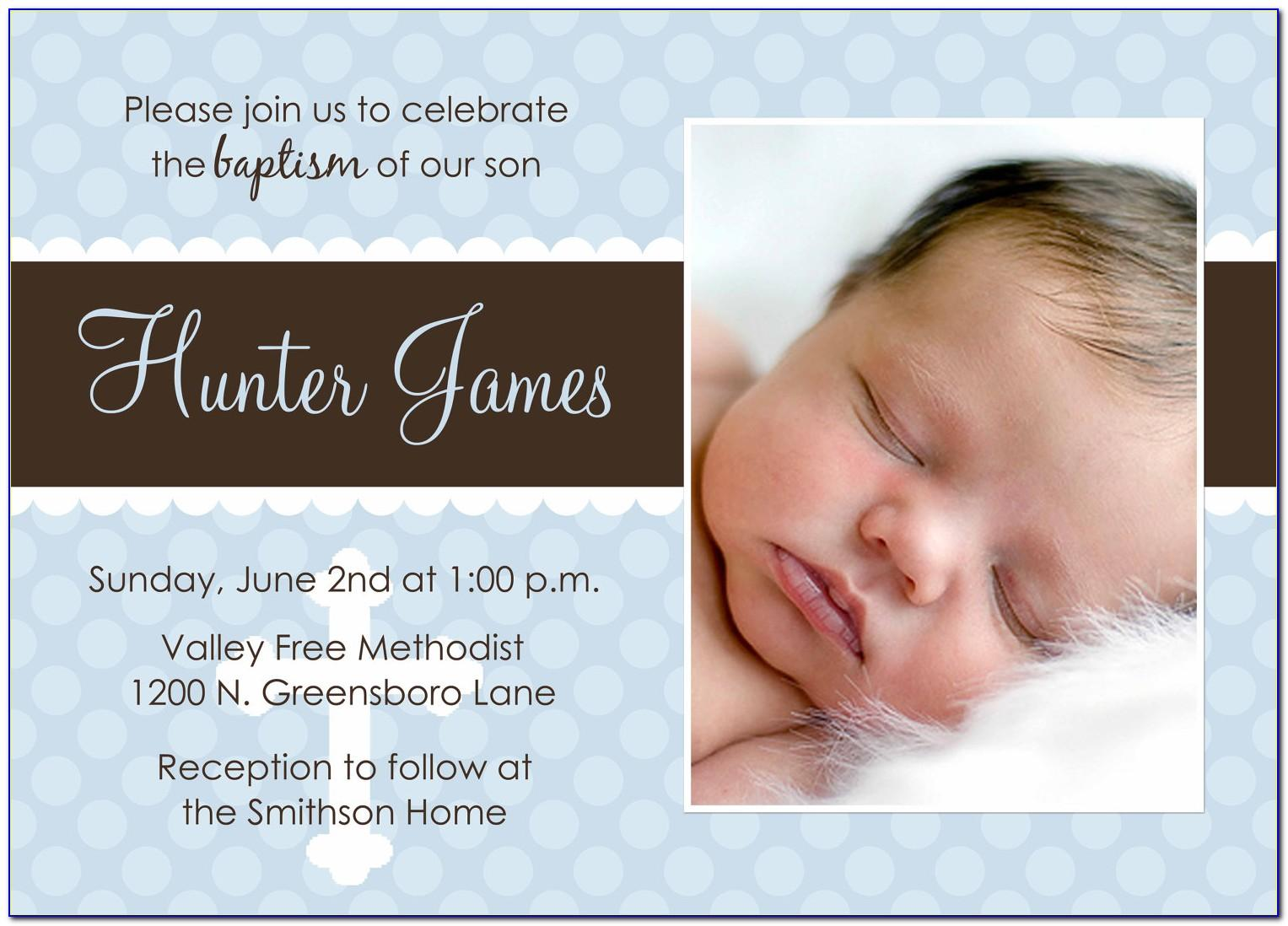 Free Child Dedication Invitation Card Template