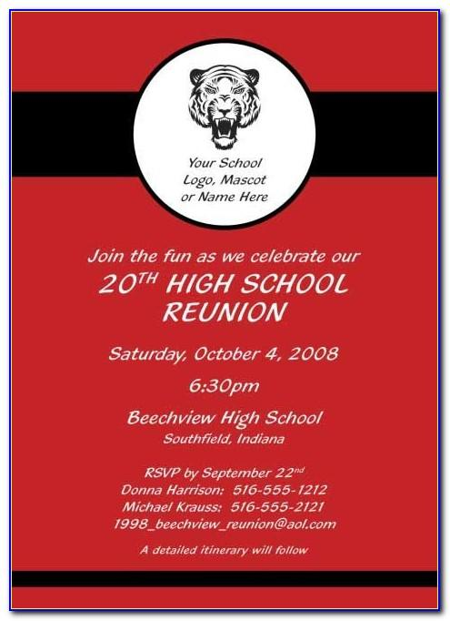 Free Class Reunion Invitation Template