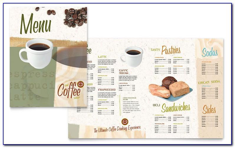 Free Coffee Shop Menu Design Templates