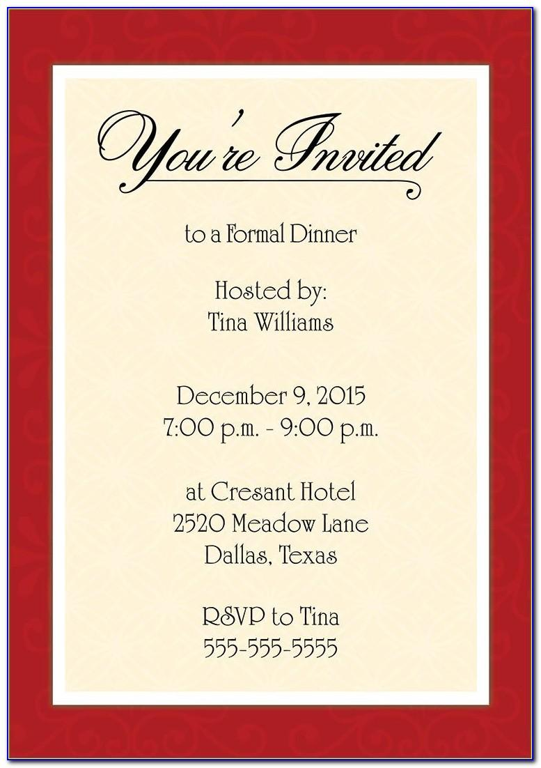 Free Dinner Party Invitation Templates To Email