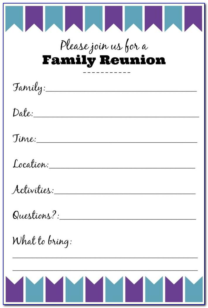 Free Family Reunion Invitations Templates Download