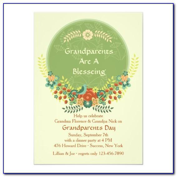 Free Grandparents Day Invitation Templates