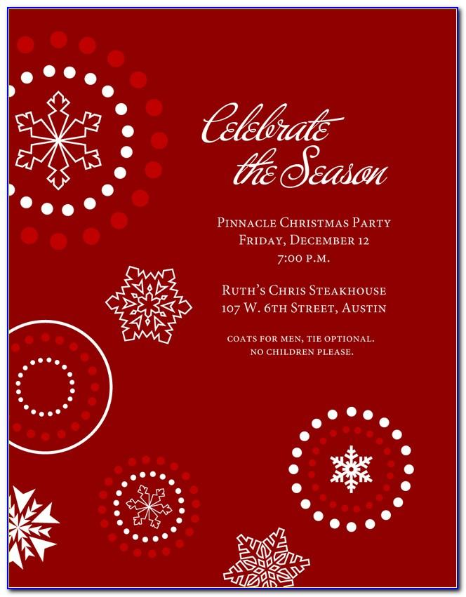 Free Holiday Luncheon Invitation Templates Word