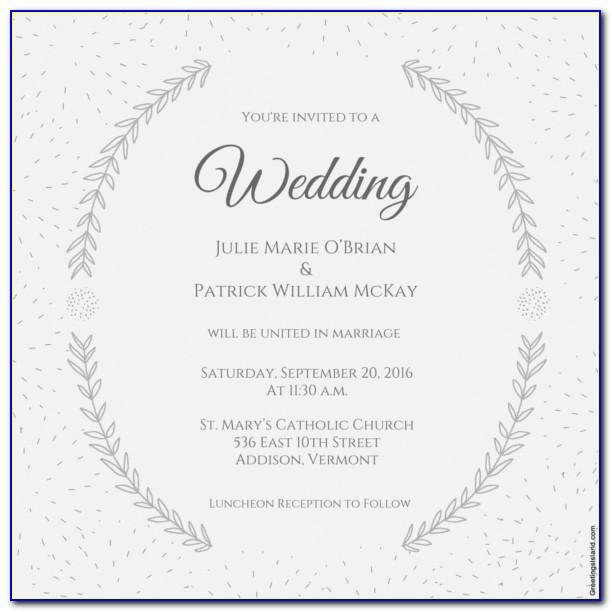 Free Indian Wedding Invitation Templates Word Document