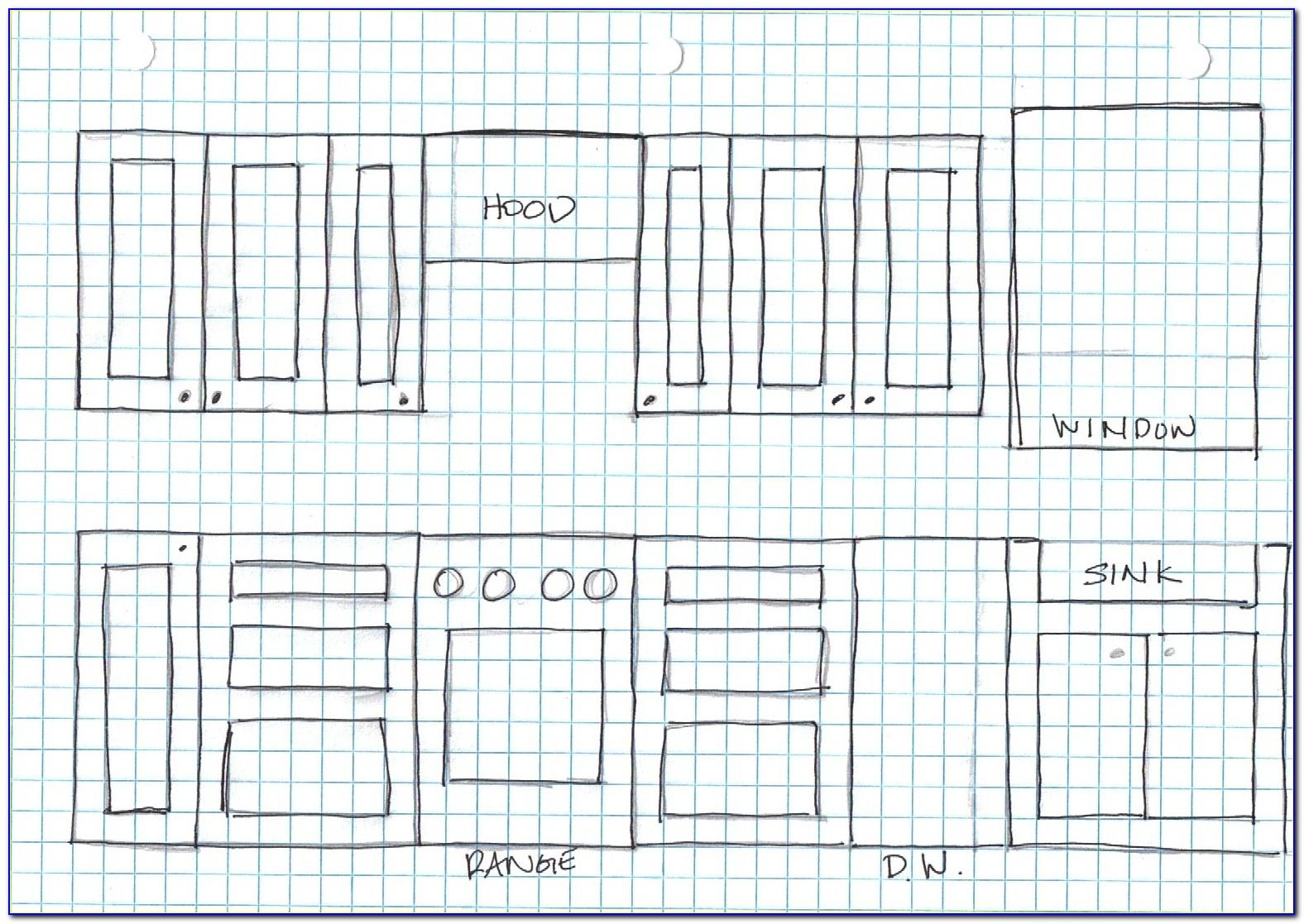 Free Kitchen Cabinet Layout Template