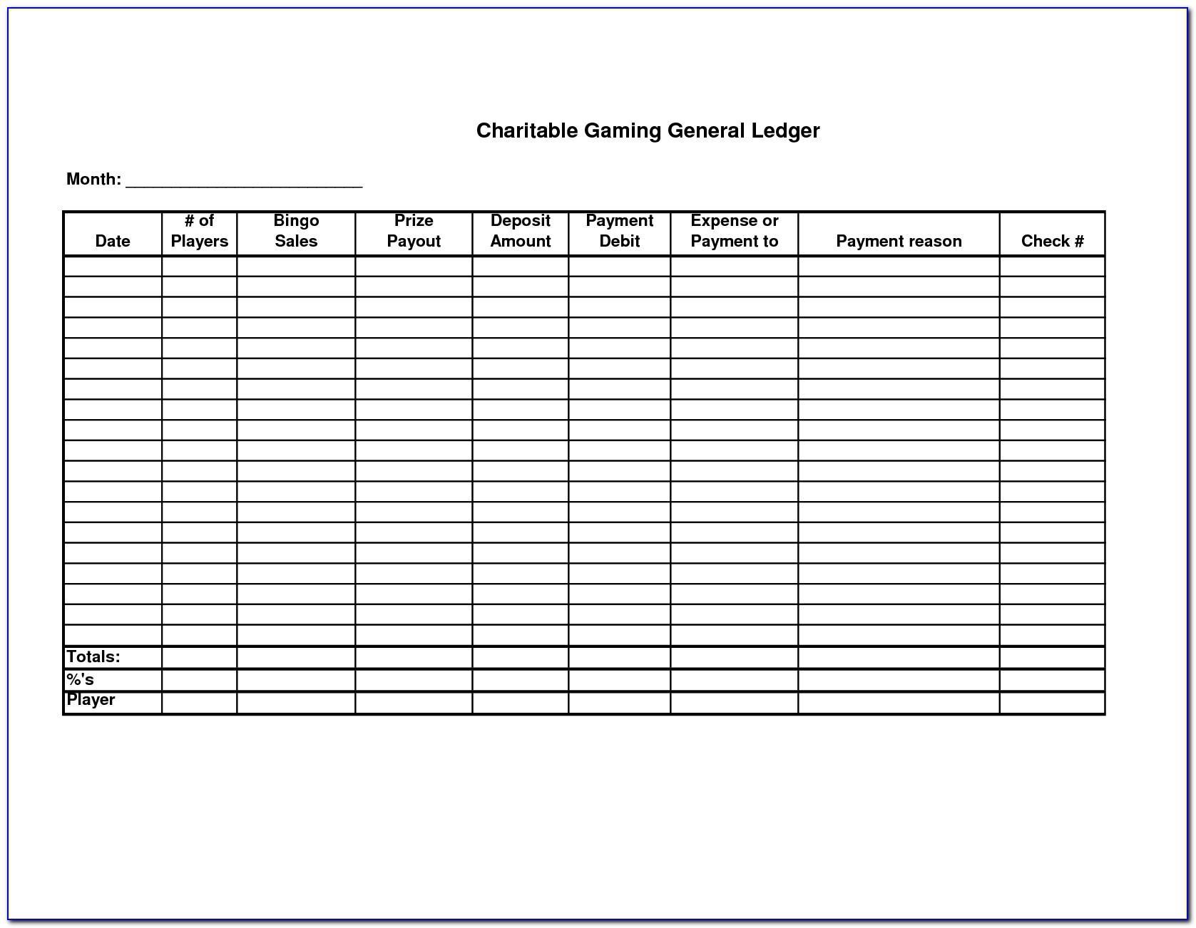Free Ledger Balance Sheet Template