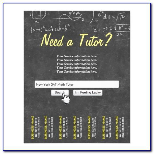 Free Math Tutoring Flyer Template