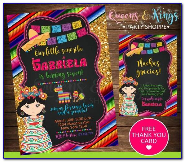 Free Mexican Themed Invite Template