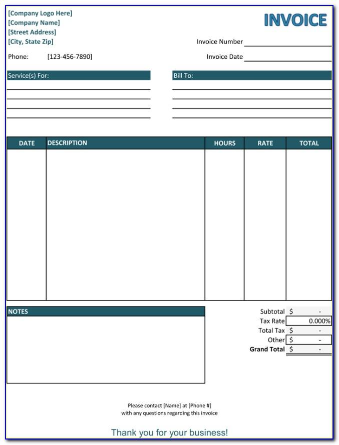 Free Microsoft Office Invoice Templates