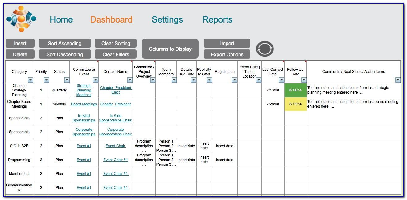 Free Nonprofit Dashboard Template