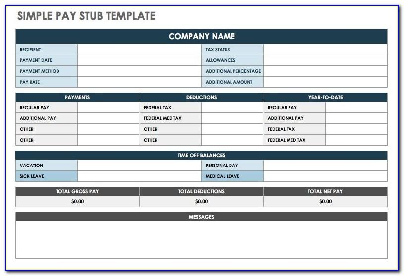 Free Online Paycheck Stub Template