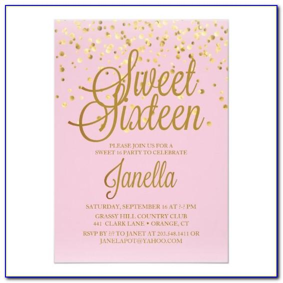 Free Online Sweet 16 Invitation Maker