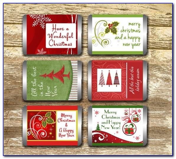 Free Printable Christmas Candy Bar Wrapper Template
