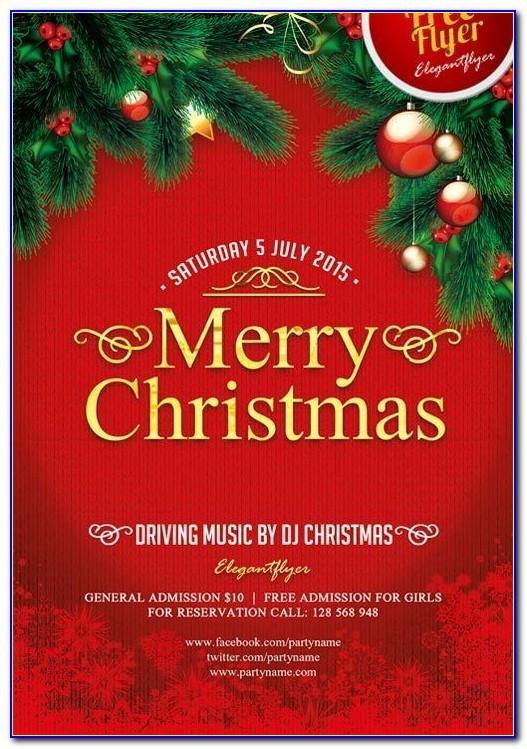 Free Printable Christmas Flyers Templates
