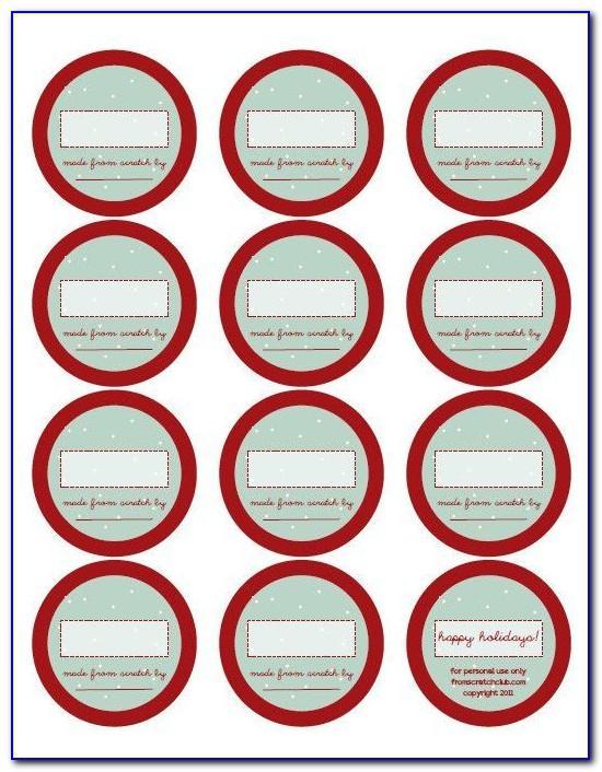 Free Printable Christmas Mason Jar Labels Template