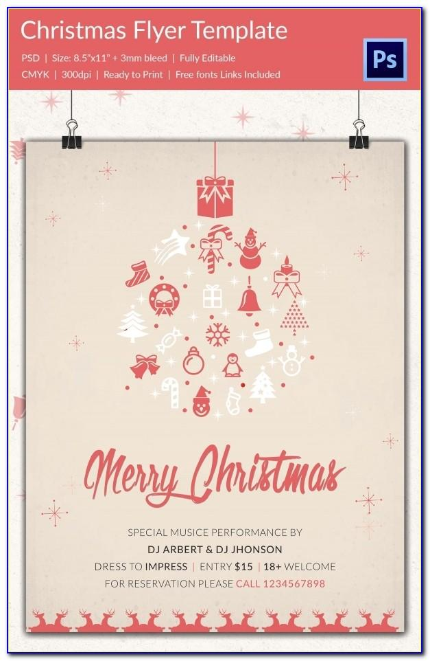 Free Printable Christmas Open House Flyer Templates
