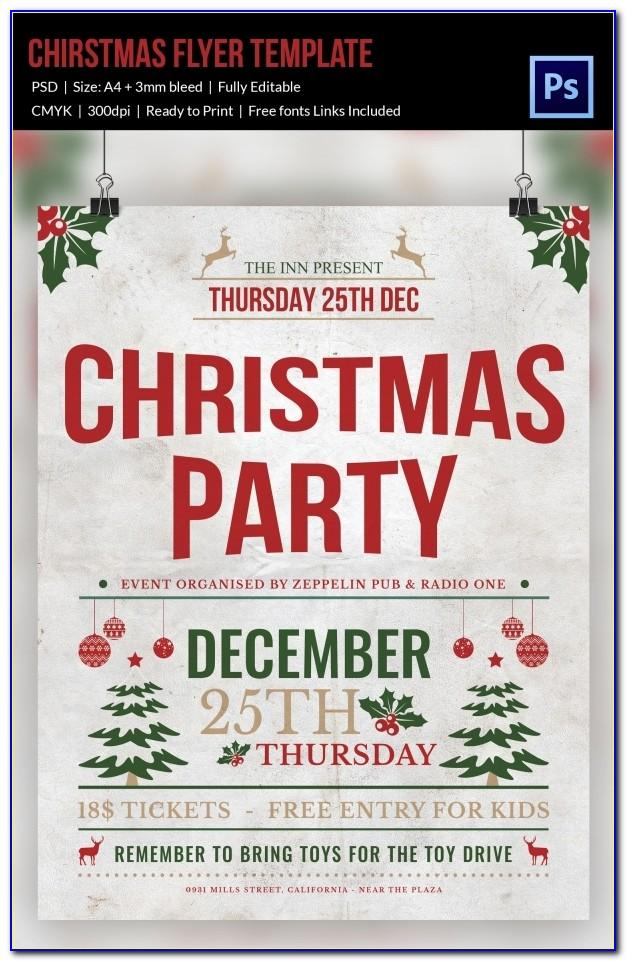 Free Printable Christmas Party Flyer Templates Uk