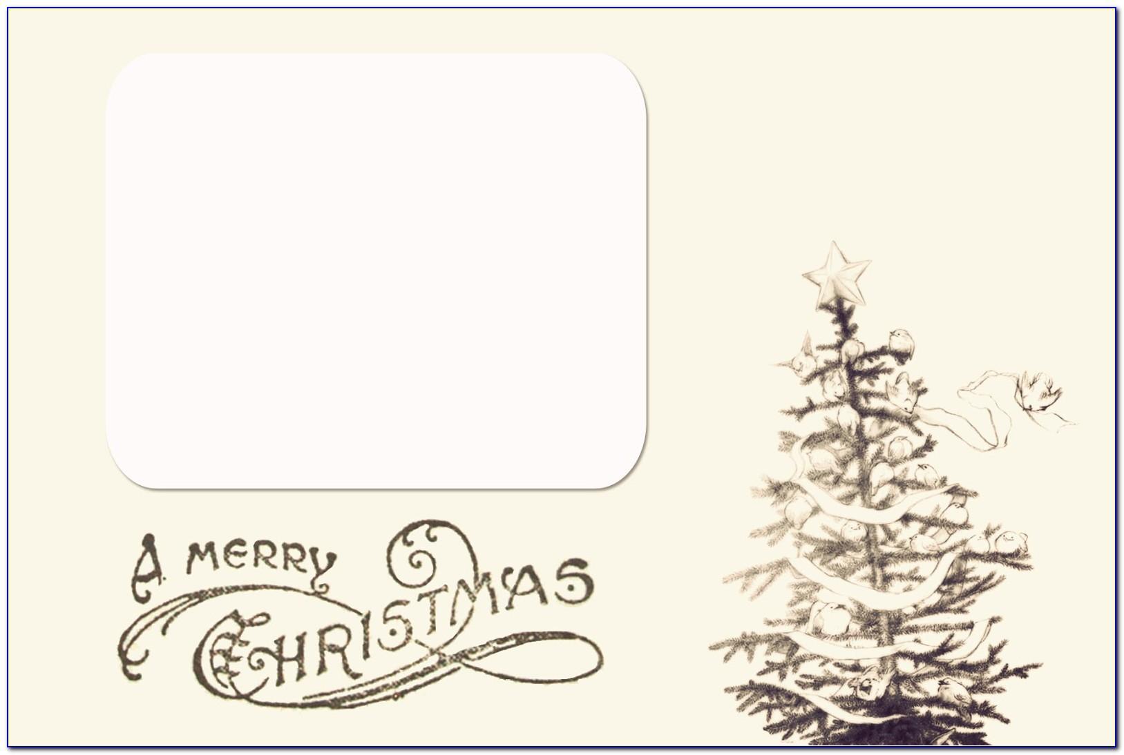 Free Printable Christmas Photo Cards Templates