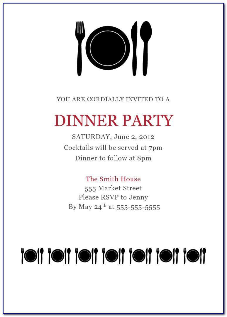 Free Printable Dinner Party Invitation Templates