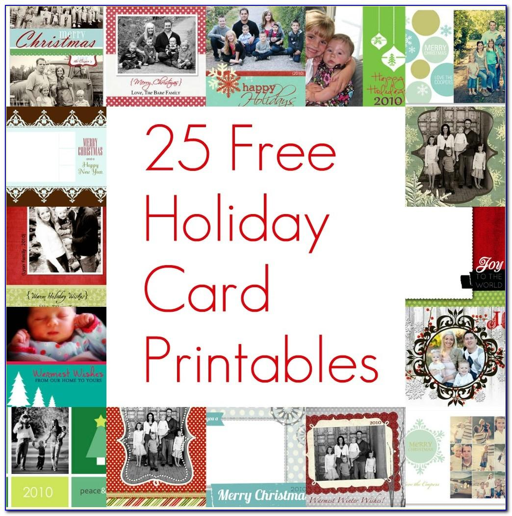 Free Printable Holiday Photo Card Templates