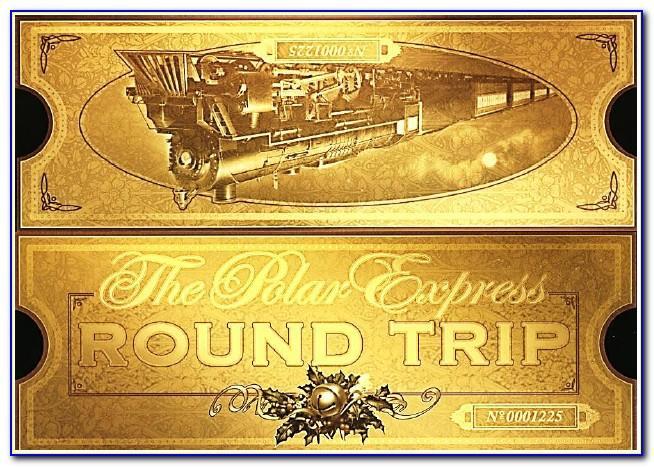 Free Printable Polar Express Ticket Template