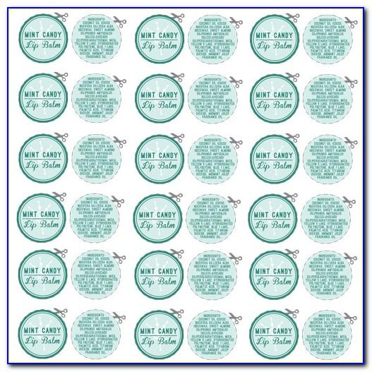 Free Printable Round Lip Balm Label Template