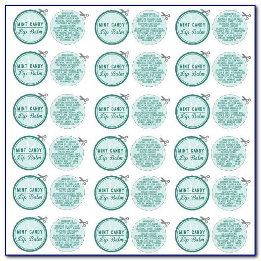 Free Printable Round Lip Balm Label Template