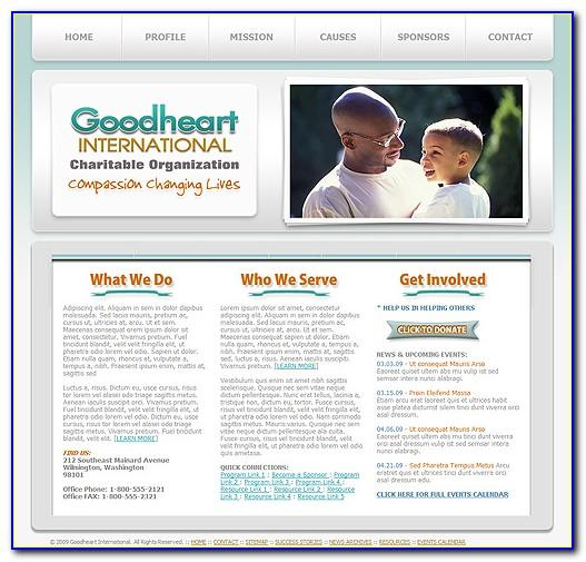 Free Responsive Website Templates For Charity Organization