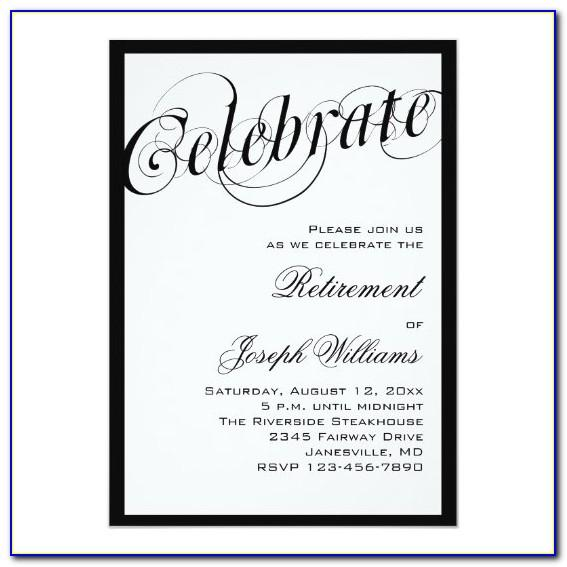 Free Retirement Reception Invitation Templates