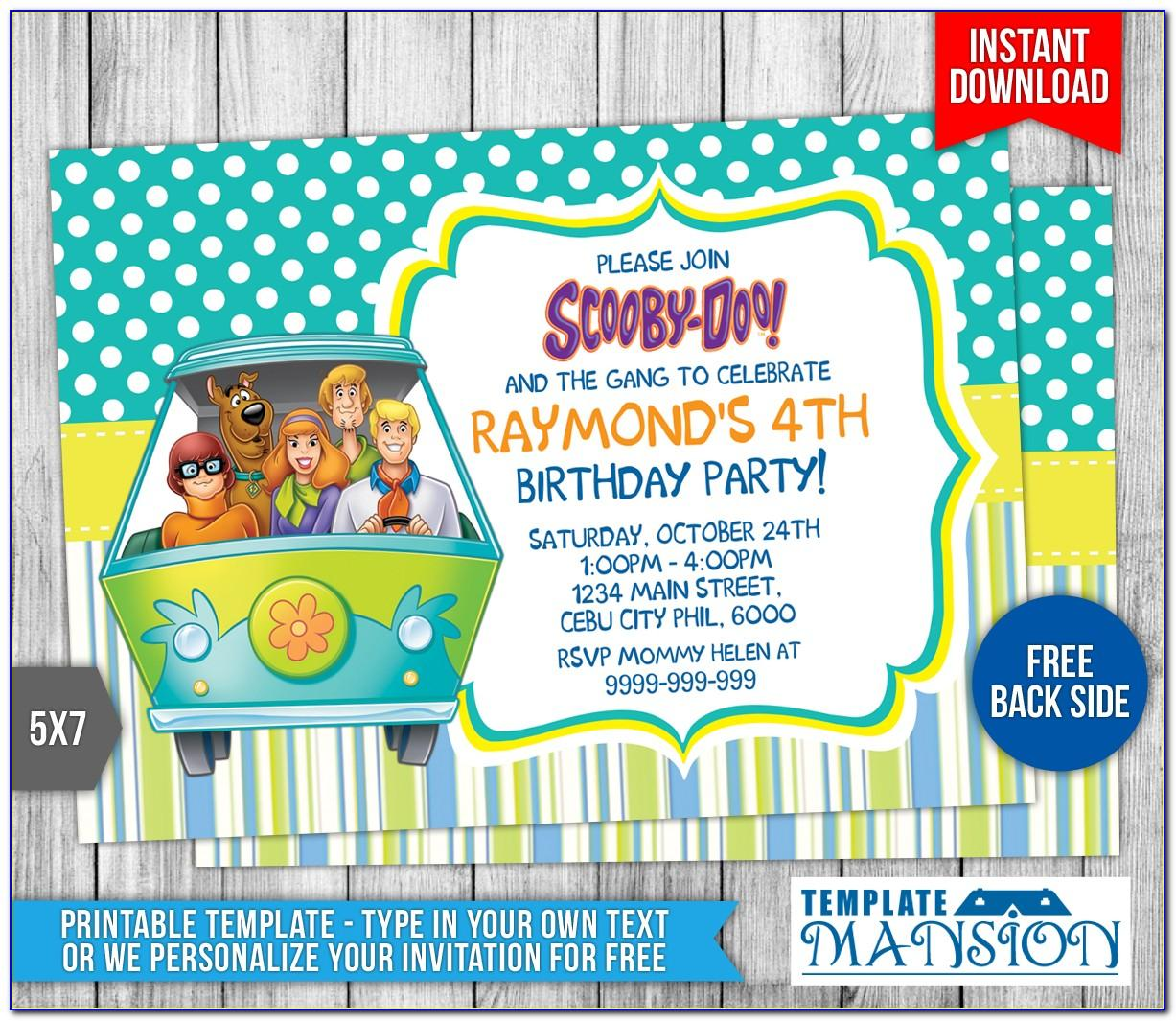 Free Scooby Doo Invitation Template