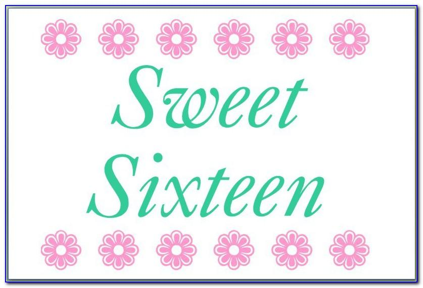 Free Sweet 16 Invitation Maker