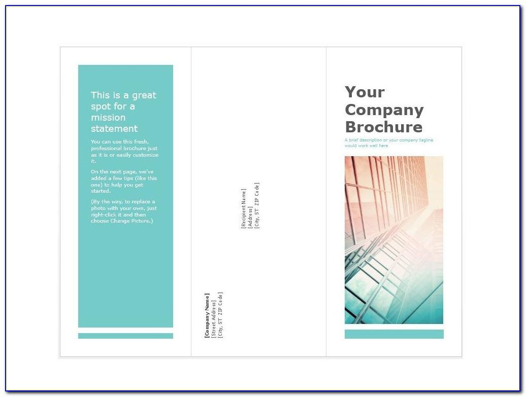 Free Template For Making A Brochure