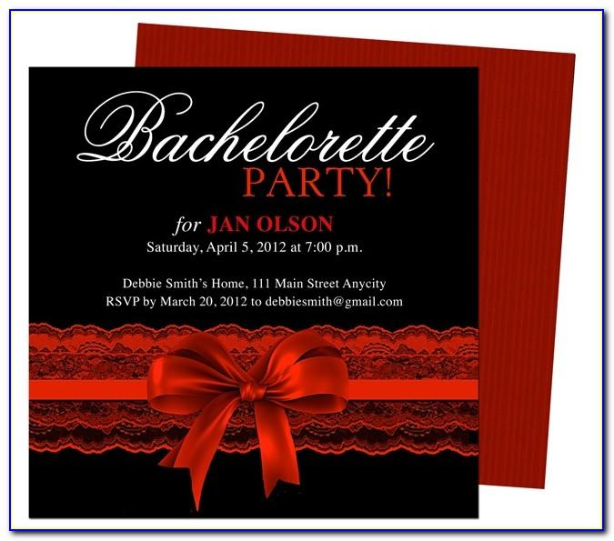 Free Templates For Bachelorette Party Invitations