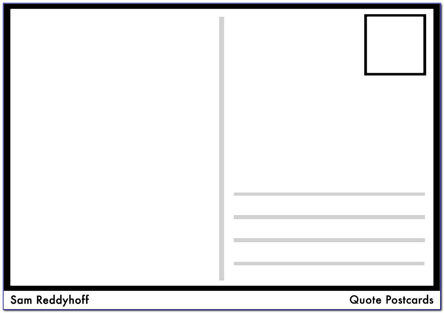 Free Templates For Postcards