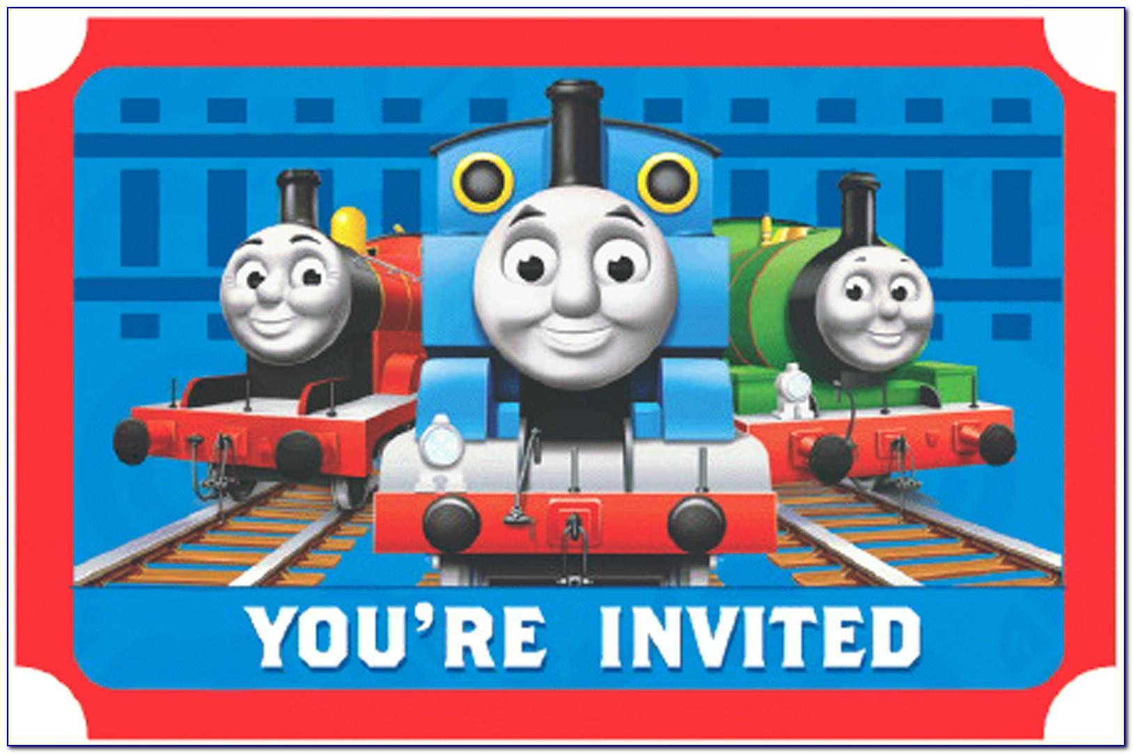 Free Thomas And Friends Birthday Invitation Templates