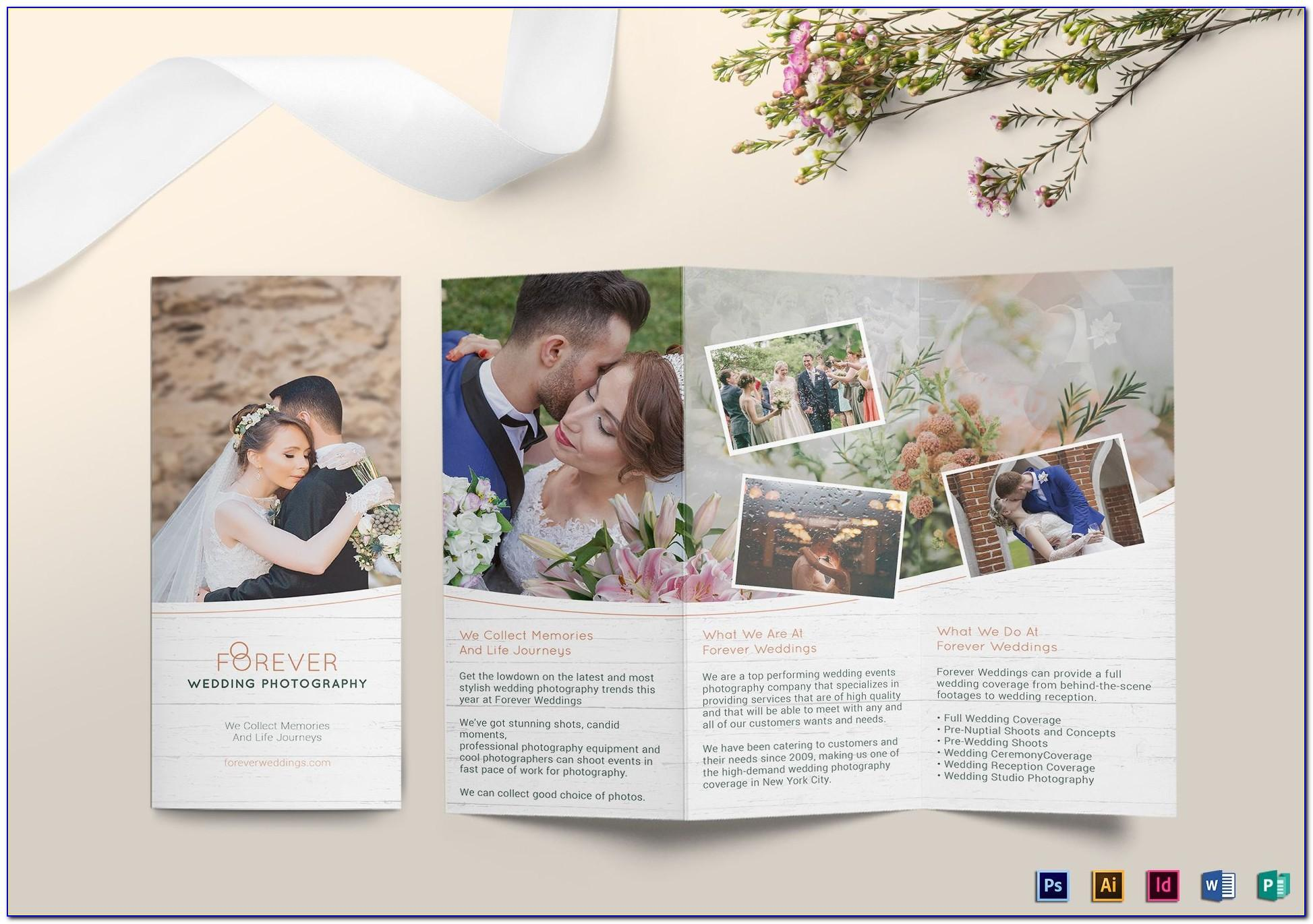 Free Tri Fold Wedding Brochure Templates