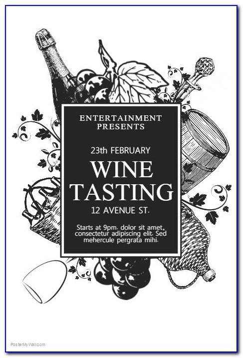 Free Wine Tasting Flyer Template