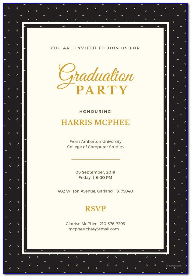 Graduation Invitation Template Psd