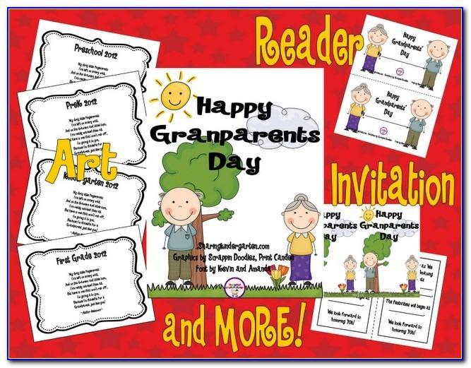 Grandparents Day Invitation Card Template