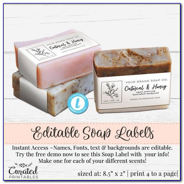 Handmade Soap Labels Template