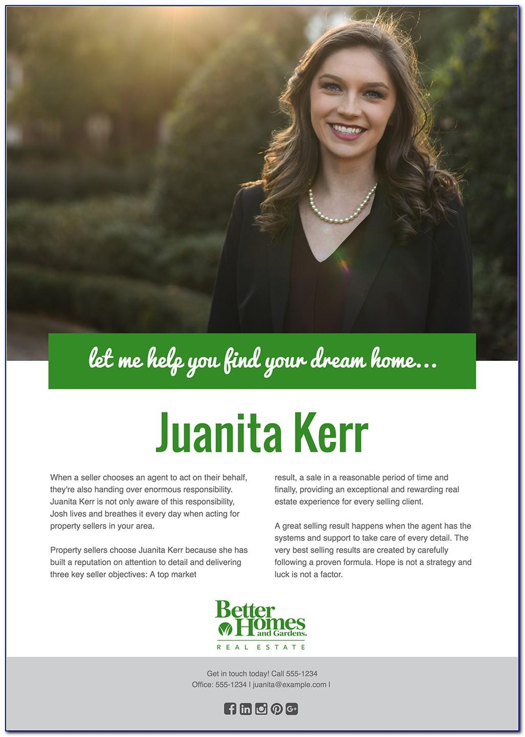 Inexperienced Real Estate Agent Bio Template